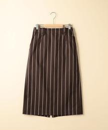 條紋長版窄裙