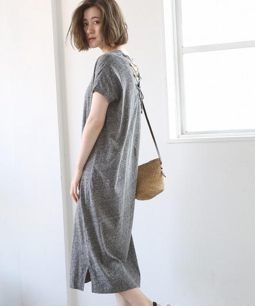 絹混纖維天竺棉迷嬉洋裝