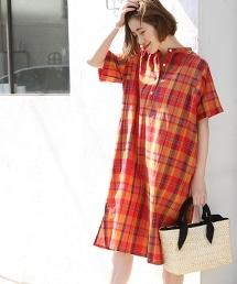 【Market】馬德拉斯格紋布連身裙