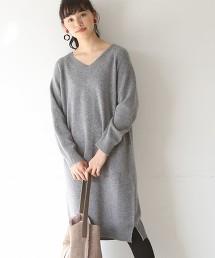 【可手洗】小羔羊毛V領洋裝