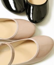 漆皮風細帶平底包鞋