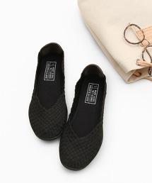 橡膠網眼平底鞋
