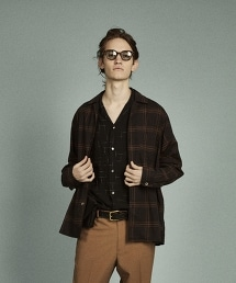 <Steven Alan> C/SILK CHECK OPEN-BOLD SHIRT/格紋襯衫