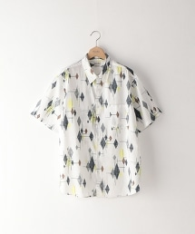 <Steven Alan> RXCL/C PRINT ROUND-BOLD SHIRT/半袖襯衫
