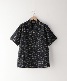 <Steven Alan> C/L PRINT OPEN COLLAR-BOLD SHIRT/開領半袖襯衫