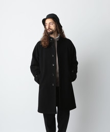 <Steven Alan> MELTON STAND BAL COLLAR COAT/大衣