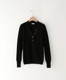 <Steven Alan>RIB HENLEY V-NECK KNIT/羅紋V領針織上衣