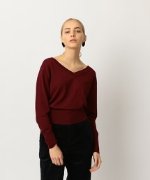 <Steven Alan>WOOL V-NECK DOLMAN SLEEVE KNIT/V領蝙蝠袖針織上衣