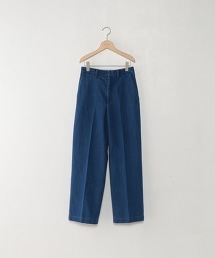 <STEVEN ALAN>COTTON DENIM WIDE TROUSERS COBALT/單寧牛仔褲