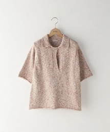 <Steven Alan>MIX COLOR PULLOVER SHIRT KNIT/短袖針織套頭上衣
