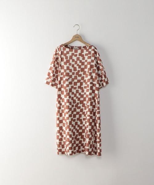 <Steven Alan>CHECKERED PATTERN DRESS/市松格紋洋裝