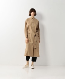 <Steven Alan>COTTON TWILL STAND COLLAR SHIRT DRESS/連身洋裝
