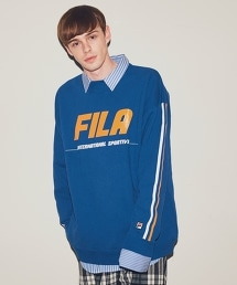 <FILA × monkey time> LINE SWEAT CREW/衛衣