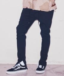 <monkey time> ST TWILL ZIP JEGNS PANTS/ 斜紋布褲腳拉鏈牛仔褲