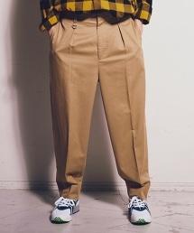 <monkey time> CHINO WIDE 1P PANTS/寬版打褶CHINO褲