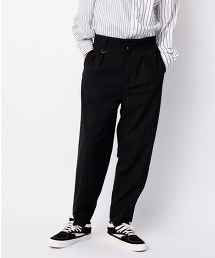 <monkey time> TR/STRIPE PANEL WIDE 1P PANTS/素色條紋拼接寬褲
