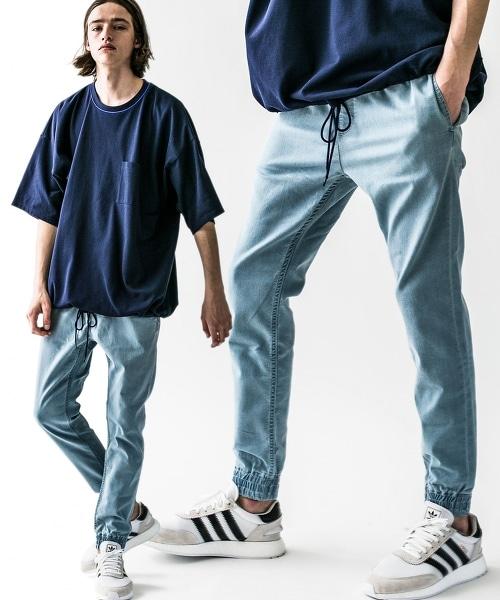 <monkey time> ST TCR TWILL SKINNY JOGGER/窄管 縮口褲