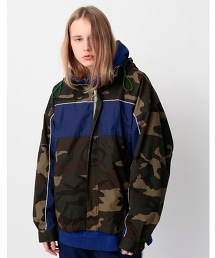 <monkey time> OVERSIZED CAMO MOUNTAIN PARKA/大尺碼迷彩登山外套