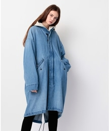 <monkey time> DENIM FISHTAIL COAT/魚尾外套(Fishtail Coat)