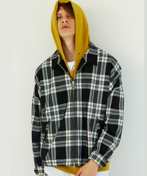 <monkey time> TW CHECK  DRIZZLER/格紋Drizzler Jacket短外套