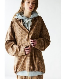 <monkey time> TW TARTAN CHECK SHIRT JACKET/襯衫外套