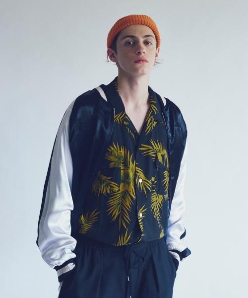 <monkey time> REVERSIBLE SOUVENIR JACKET/刺繡雙面棒球外套