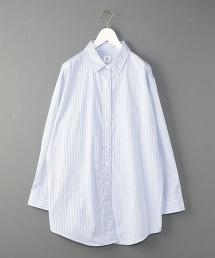 <6(ROKU)>THOMAS MASON STRIPE BIG SHIRT/條紋大尺碼襯衫