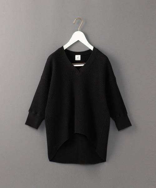 <6(ROKU)>THERMAL V NECK 6SLEEVE 2/發熱半袖V領上衣