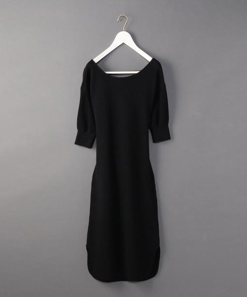 <6(ROKU)>THERMAL BACK TWIST ONE PIECE/後背交叉洋裝