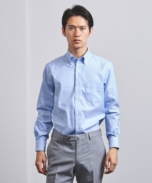 <UNITED ARROWS> EASY CARE 藍直條紋扣領襯衫 OUTLET商品