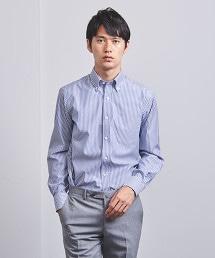 <UNITED ARROWS> 直條紋 釦領 襯衫