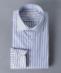 <UNITED ARROWS> EASY CARE 相間直條紋 寬角領襯衫