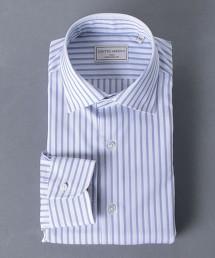 <UNITED ARROWS> EASY CARE 寬直條紋 寬角領襯衫