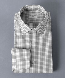 <UNITED ARROWS> EASY CARE 細格紋 寬角領襯衫
