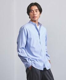 <UNITED ARROWS> 相間直條紋 立領襯衫