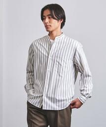 <UNITED ARROWS> 雙直條紋 立領襯衫