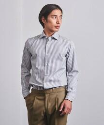 <UNITED ARROWS> EASYCARE 多色直條紋寬領襯衫