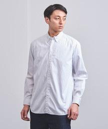 UASB 細平棉布 直條紋短版扣領襯衫