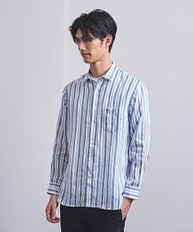<UNITED ARROWS> 直條紋 標準領 襯衫