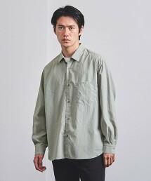 <UNITED ARROWS> 府绸 標準領 寬版襯衫