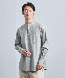 <UNITED ARROWS> 法蘭絨 素色立領襯衫