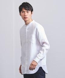 <UNITED ARROWS> 素色 立領 襯衫