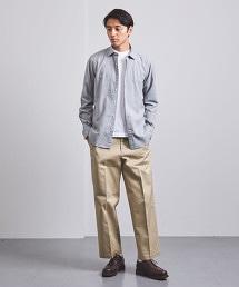 <UNITED ARROWS> 法蘭絨 素色小寬角領襯衫†