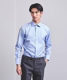 UADT 藍白直條紋半寬角領襯衫