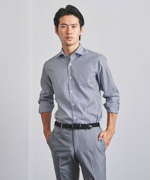 <UNITED ARROWS> EASY CARE 英倫直條紋 寬角領襯衫