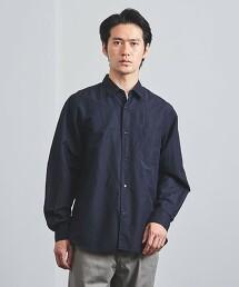 <UNITED ARROWS> 棉/亞麻 竹節紗 府绸 標準領襯衫