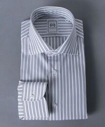 <SOVEREIGN> 雙直條紋 寬腳領 襯衫 日本製
