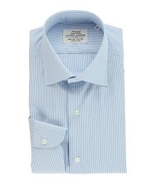 UADT 淺藍鉛筆直條紋襯衫