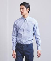 UADT 鉛筆直條紋扣領襯衫