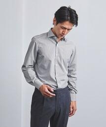<UNITED ARROWS> CANDY STRIPE 寬角領襯衫 日本製